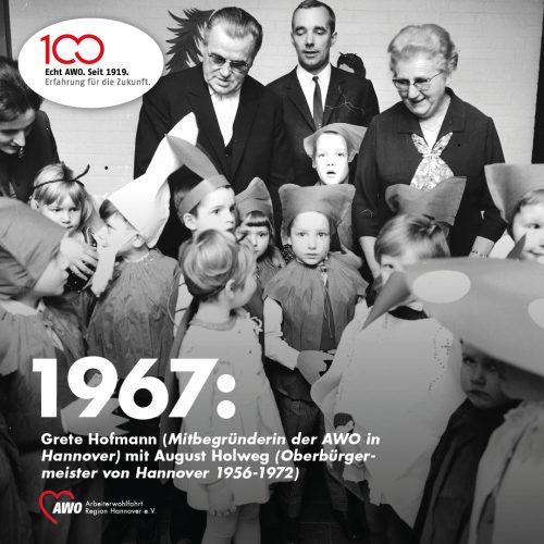 261e10a7b03b83 Margarete (genannt Grete) Hofmann ist eine der großen Frauen der AWO. Sie  war während der NS-Zeit aktiv im Widerstand tätig. Nach dem Ende des  Zweiten ...