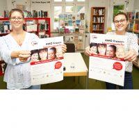 AWO Frauenberaterinnen verteilen Plakate in Uetze