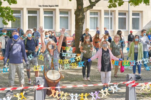 Aktion vor dem Landtag / Jugendwerkstätten fordern Ausbildung und Arbeit für alle Jugendlichen und dauerhafte Finanzierung