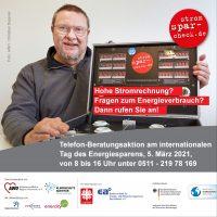 Stromspar-Check-Aktion am 5. März zum Tag des Energiesparens