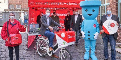 Stromspar-Check-Team: Mobil mit neuem E-Transportrad