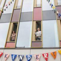 Wimpelketten am Lindener Rathaus